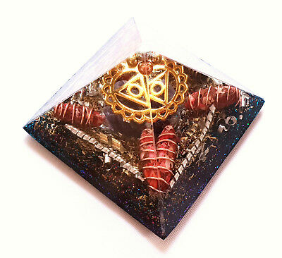 Orgonite Orgone Pyramid Healing Energy Meditation Crystal decoration butterfly