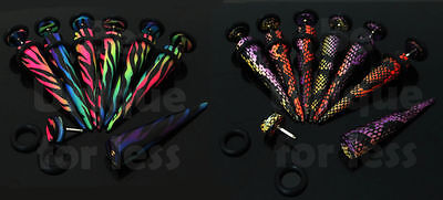 Fake ILLUSION Animal Print Ear Stretcher Taper  8mm-Various Designs Available