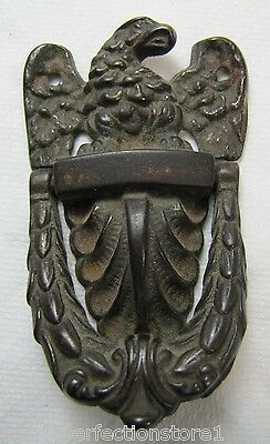 Antique 19c Cast Iron Eagle Door Knocker exquisite small ornate interior bathrm