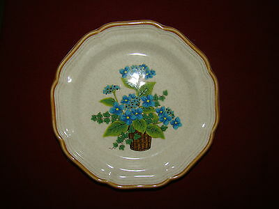 MIKASA BELLS OF BLUE EC402 LOT OF 2 SALAD PLATES EXCELLENT FREE SHIPPING!