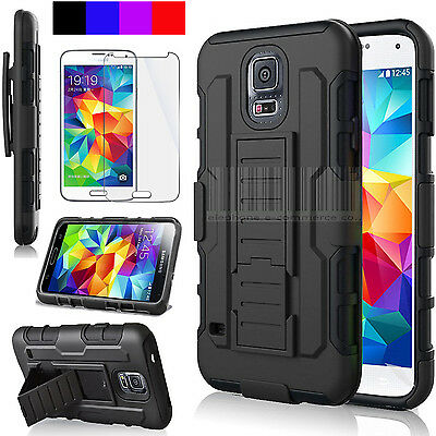 For Samsung Galaxy S5 S6 S7 S8 Edge Holster Clip Stand Armor Rugged Case Cover