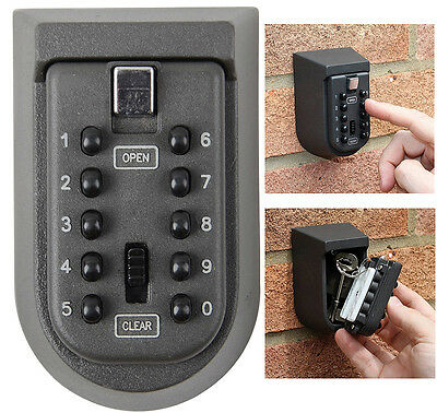 Outdoor Combination Key Safe Box Wall Mounted Weather Resistant Security Home