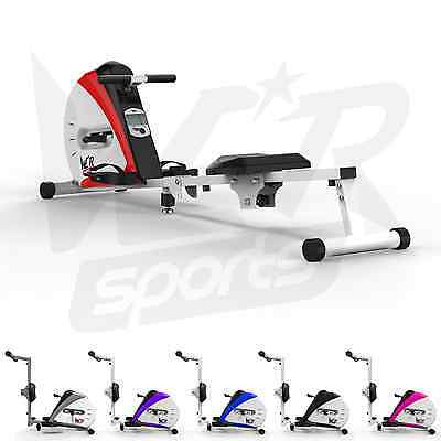Rowing Machine Body Tonner Home Rower Fitness Cardio Workout Weight Loss - Red