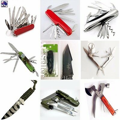 Multi Tool Pocket Knife Multi Function Knives Axe Piler Screwdriver Scissors