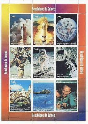 American Space Travel Astronaut Moon Landing 2008 Mnh Stamp Sheetlet