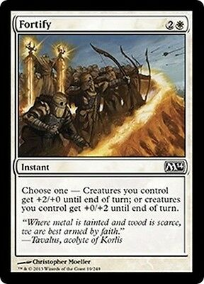 MTG Magic M14 - (4x) Fortify/Fortifier, English/VO