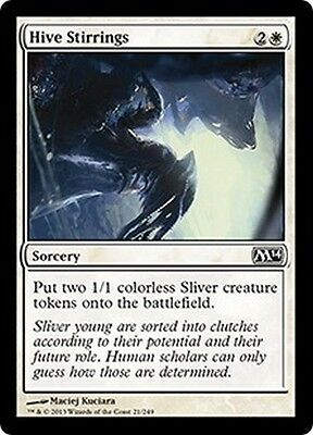MTG Magic M14 - (4x) Hive Stirrings/Frémissements de l'essaim, English/VO