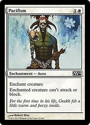 MTG Magic M14 - (4x) Pacifism/Pacifisme, English/VO
