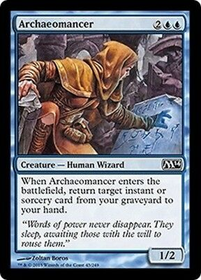 MTG Magic M14 - (4x) Archaeomancer/Archéomancienne, English/VO