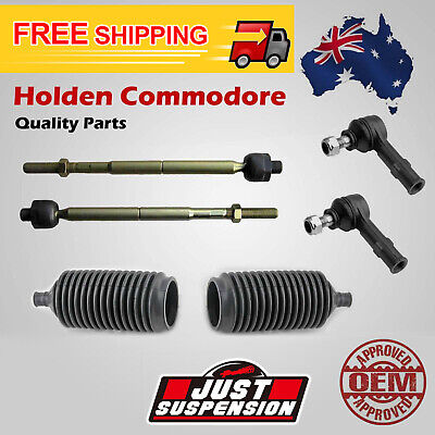 6 x Holden Commodore VR VS Rack Tie Rod Ends Boots Steering Full Set 93-1997
