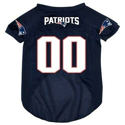 NEW NEW ENGLAND PATRIOTS PET DOG MESH FOOTBALL JERSEY ALL SIZES LICENSED