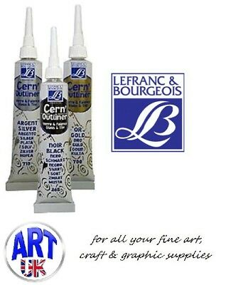 Lefranc & Bourgeois Cerne Relief Outliner for Painting on Glass, Tile, Porcelain