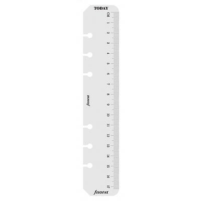 Filofax Personal Size Clear Ruler / Today Page Marker Insert Refill 133627