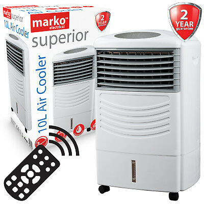 10L 3 Speed Portable Air Cooler Purifier Humidifier Cool Electric Cold Fan Timer