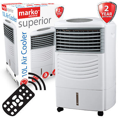 70W 3 Speed Portable Air Cooler Purifier Humidifier Cool Electric Cold Fan Timer