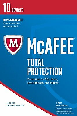 McAfee Total Protection 2016 Unlimited User/PC Internet Security Windows 10 NEW