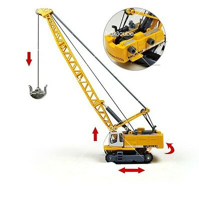 1:87 1891 Liebherr Track Excavator Tower Crane Alloy Engineering Diecast Model