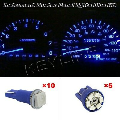 New 73 74 161 168 Blue LED Kits Instrument Panel Cluster Bulb Lights For Toyota