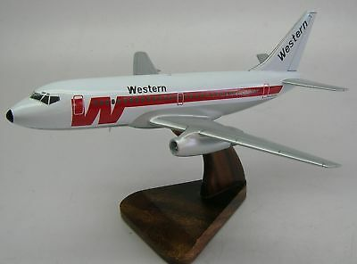 B-737-200 Western Airlines B737 Airplane Wood Model Free Shipping Large New
