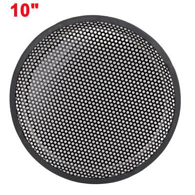 "10"" Dia Metal Mesh Car Woofer Component Protective Cover Speaker Grill Black"