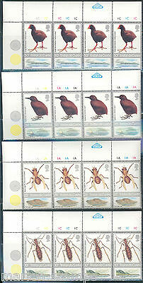 Tristan Da Cunha Sc#404/07 Birds & Insects Lot Of 100 Sets  Mint Never Hinged