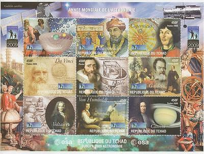 Famous Astronomers Aristotle Galilelo Voltaire Copernicus Mnh Stamp Sheetlet