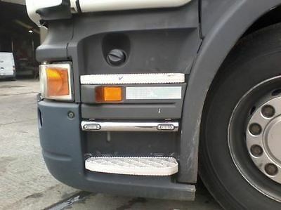 Volvo Series 2 / 3 Polished Stainless Steel Step Bars With LED Lights FH Truck