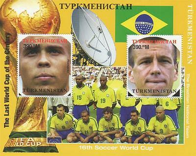 FOOTBALL 16th SOCCER WORLD CUP BRAZILIAN NATIONAL TEAM MNH STAMP SHEETLET