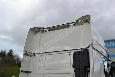 Volvo FH Series 2 / 3 Globetrotter XL S/S Rear Roof Light Bar + LEDs + Spots