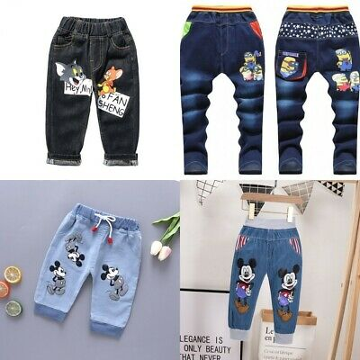 Baby Kids Children Boys Girls Clothes Jeans & Pants Trousers Bottoms 2-9 years
