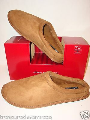 John Ashford Faux Suede Indoor/Outdoor Slippers ~ Size XXL (13) ~ New In Box