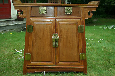 Antique Chinese Kang Cabinet Burmese Huali Wood 缅甸花梨木 #20140084
