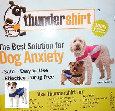 THUNDERSHIRT for DOG ANXIETY Medium BLUE POLO Safe Effective Easy to Use
