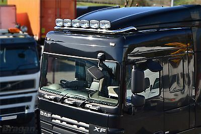 DAF XF 105 / 106 Space Cab Stainless Steel Roof Light Bar + LED x 7