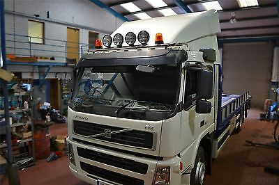 Volvo FH / FM Series 2 / 3 Low Cab Stainless Steel Roof Light Bar + LED x 7