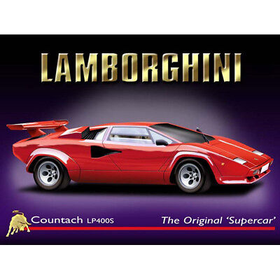 Lamborghini Sign Classic Italian Sports Car Garage Decor 12x16