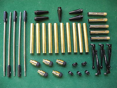 Woodturning FANCY Pen Kits in Black Chrome with Soft Touch Stylus