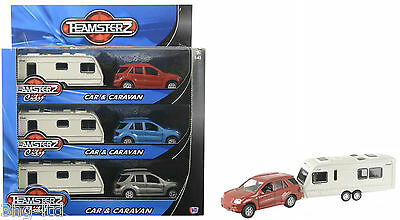 Teamsterz City 4 x 4 Diecast Car & Touring Caravan Toy Play Set Scale 1:43 New