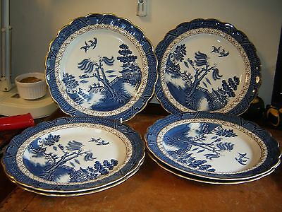 Booths Old Willow 6 Dinner Plates VGC