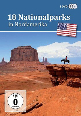 3 DVDs * 18 NATIONALPARKS IN NORDAMERIKA  # NEU OVP ~