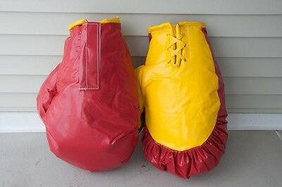 Boxing Gloves Red Inflatable Bounce House Moonwalk Interactive Tentandtable ECS