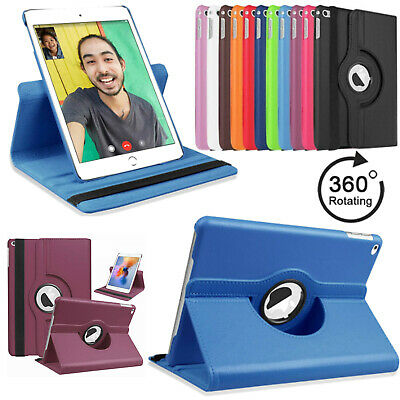 360 Rotation Smart Leather Stand Case Cover For Apple iPad 2 3 4 5 6 Air Pro 9.7