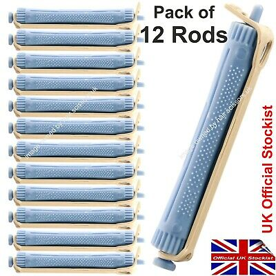 Hair Curling Perming Rods To Make Curly Permed Hair. Size Blue. Pack of 12