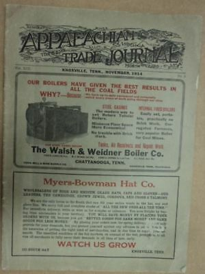 1914 Appalachian Trade Journal Coal Mine Mining Magazine Antique Knoxville TN