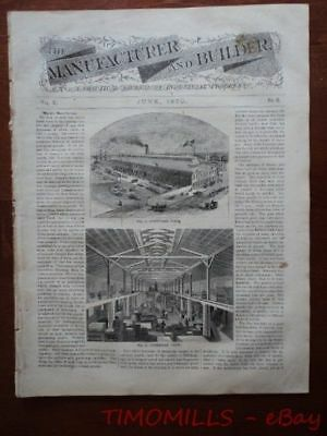 1870 Manufacturer & Builder Magazine Windmill Design and Construction Holland