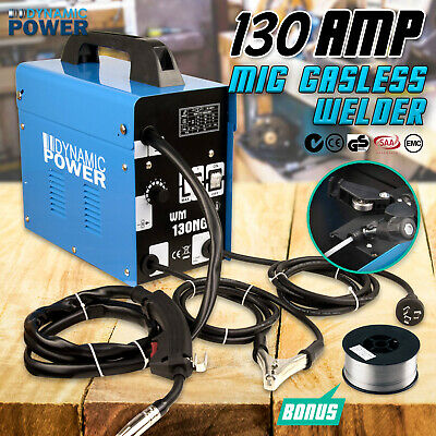 130Amp MIG Gasless Welder Welding Machine Tool 10Amp Plug DYNAMIC POWER