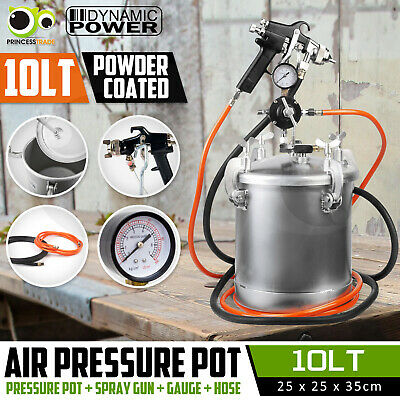 8 Lt Pressure Pot Spray Gun Tank Hose Gauge DIY House Paint Air Tools