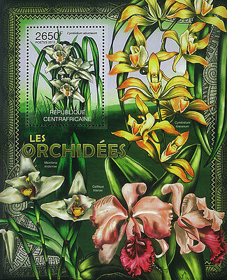 Central African Stamp, 2012 CAR INT1206B Orchidees Flower,Cattleya trianae,S/S