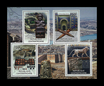 Central African Stamp, 2012 CAR INT1217A Ancient Civilization Mesopotamiennes