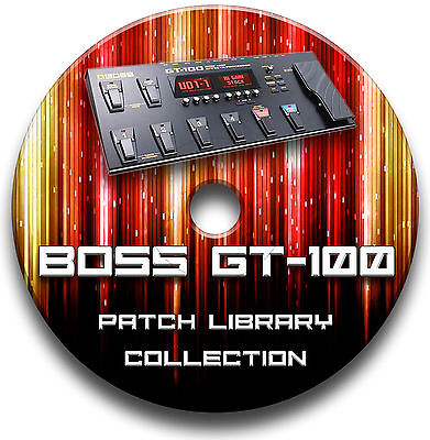 Boss Gt-100 Pre-Programmed Patches Cd - Over 5,500! Guitar Effects Pedals